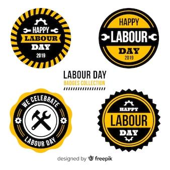 Collezione di etichette per la festa dei lavoratori
