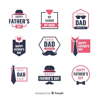 Collezione di etichette per la festa del papà