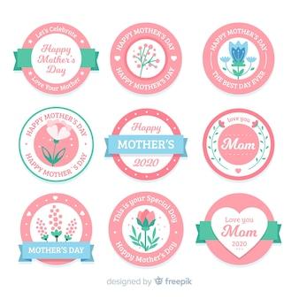 Collezione di etichette per la festa della mamma