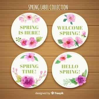 Collezione di etichette primavera