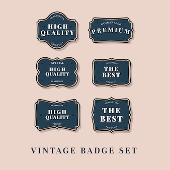 Collezione di etichette vintage