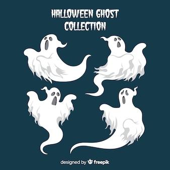 Collezione di fantasmi di halloween in diverse pose