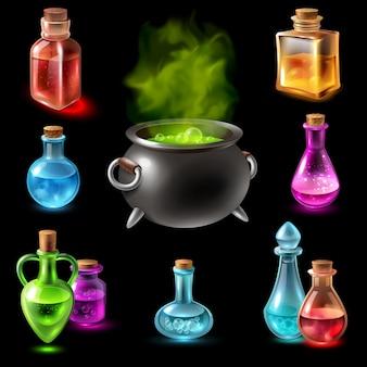 Collezione di fiale hebenon magico