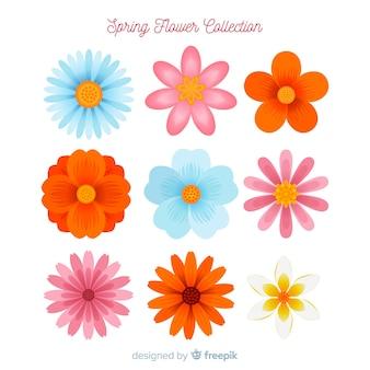 Collezione di fiori di primavera