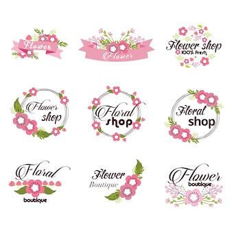 Collezione di fiori logo