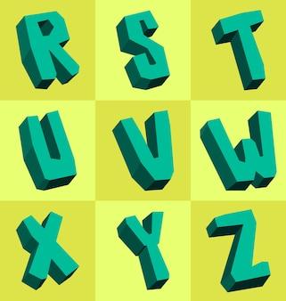 Collezione di font in stile rock