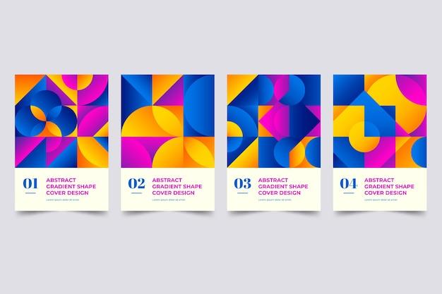 Collezione di forme astratte sfumate copertina