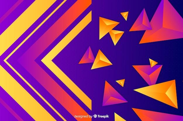 Collezione di forme geometriche sullo sfondo