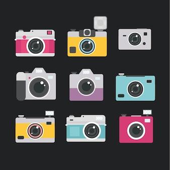 Collezione di fotocamere multicolore