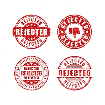Collezione di francobolli design rifiutato