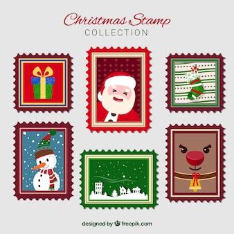 Collezione di francobolli natalizi