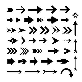 Collezione di frecce design piatto