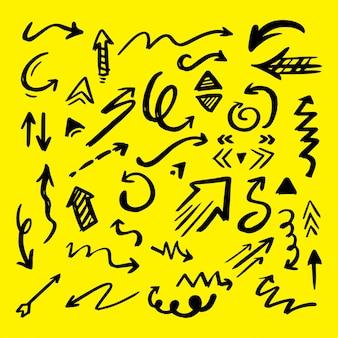 Collezione di frecce illustrate
