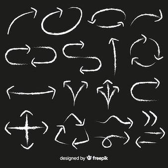 Collezione di frecce in stile gesso