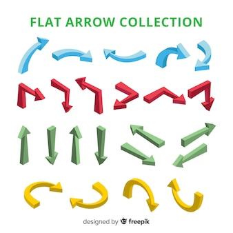 Collezione di frecce moderne con design piatto