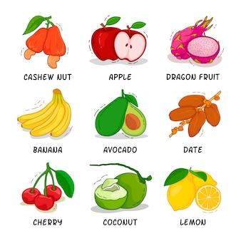 Collezione di frutta