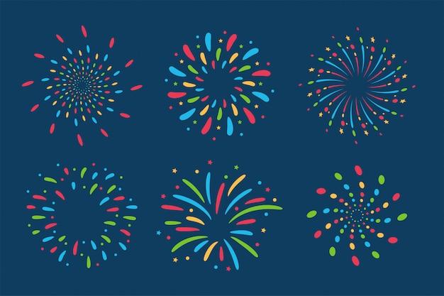 Collezione di fuochi d'artificio.