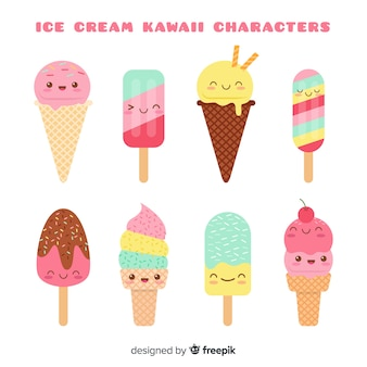 Collezione di gelato kawaii