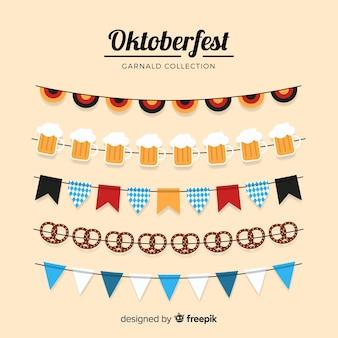 Collezione di ghirlande dell'oktoberfest
