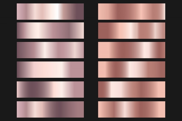 Collezione di gradiente lucido e metallico