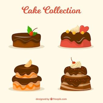 Collezione di gustose torte