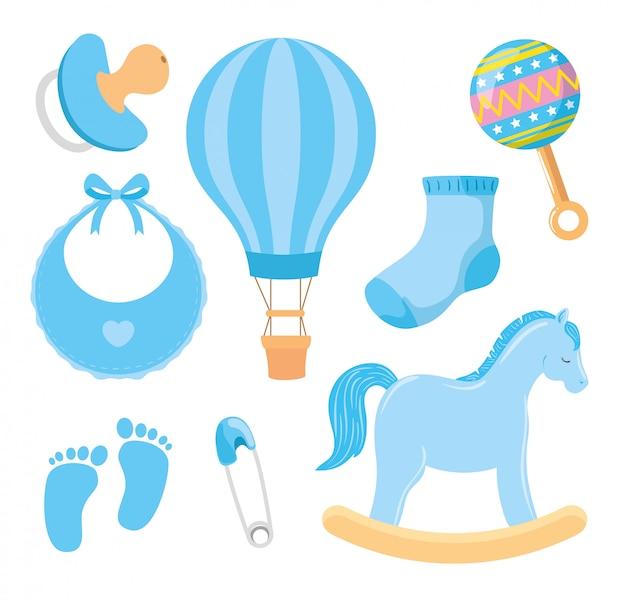 Collezione di icone carine per ragazzino