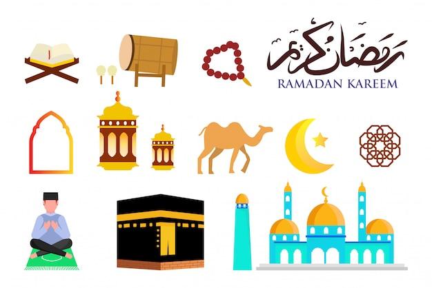 Collezione di icone del ramadan