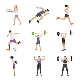 Collezione di icone di allenamento