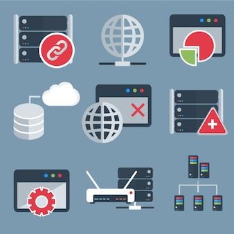 Collezione di icone di computer