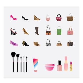 Collezione di icone di cosmetici
