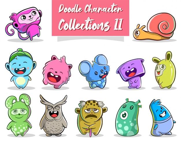 Collezione di icone di doodle disegnato a mano carino