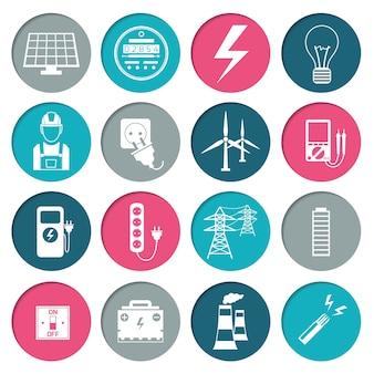 Collezione di icone di energia