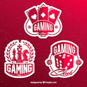 Collezione di icone di gioco d'azzardo con design piatto