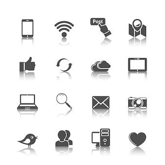 Collezione di icone di internet