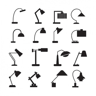 Collezione di icone di lampade