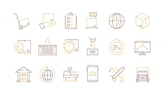 Collezione di icone di logistica