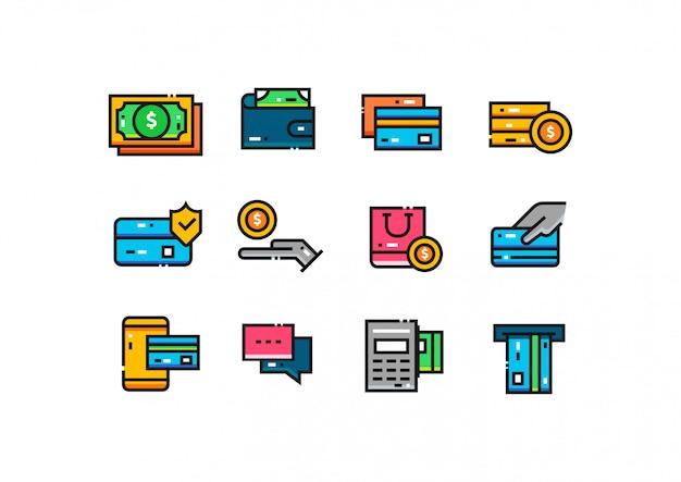 Collezione di icone di pagamento