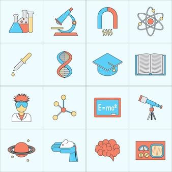 Collezione di icone di scienza