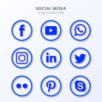Collezione di icone di social media