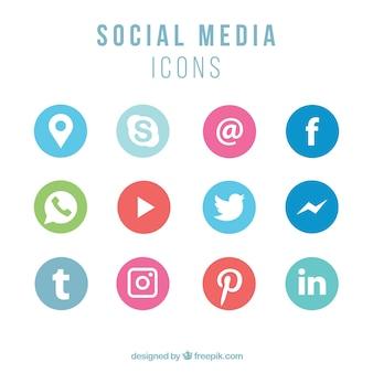 Collezione di icone di social networking