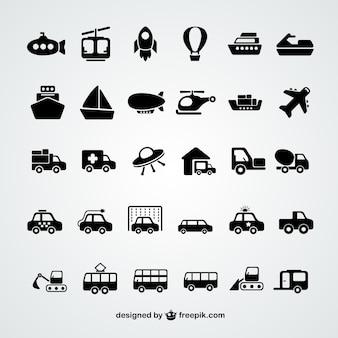 Collezione di icone di trasporto