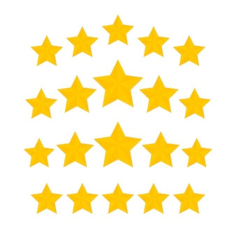 Collezione di icone five stars rating gold
