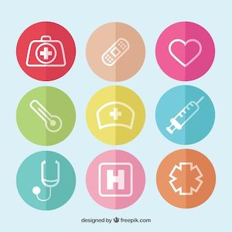 Collezione di icone medica