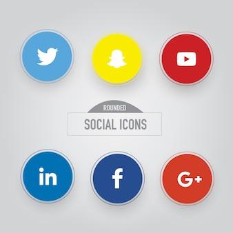 Collezione di icone sociali