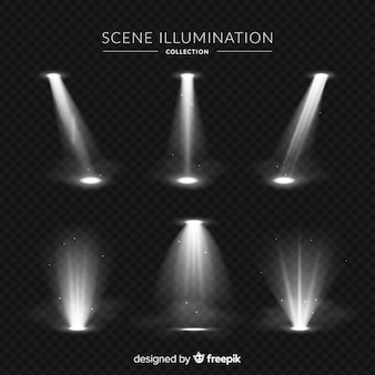 Collezione di illuminazione di scena realistica