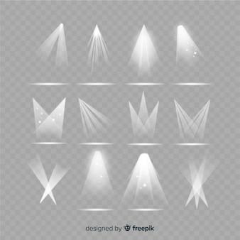 Collezione di illuminazione realistica dei riflettori