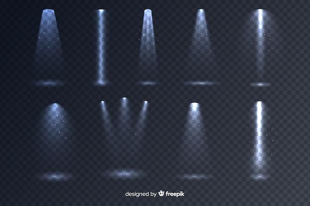 Collezione di illuminazione scena realistica