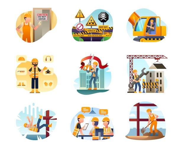 Collezione di illustrazione di costruzione