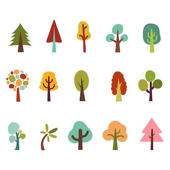 Collezione di illustrazioni di albero