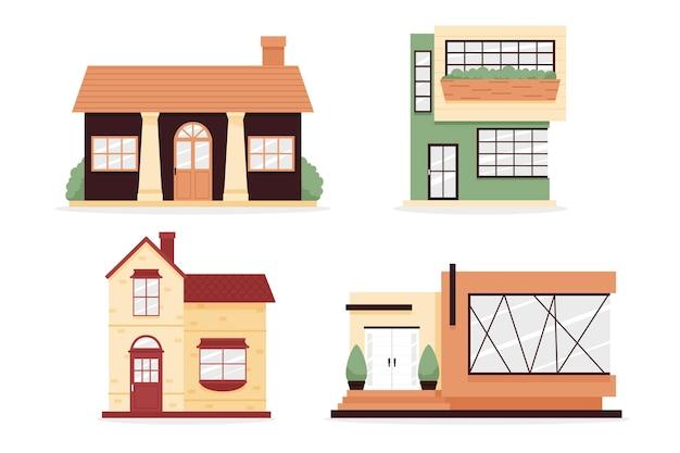 Collezione di illustrazioni di casa